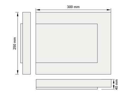 Изображение руст три фаски декор лепнина рс7-1 размеры