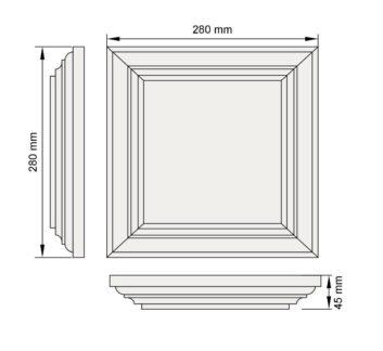 Изображение руст три фаски декор лепнина рс8-1 размер