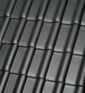 фото Черепица Roben MONZAplus, серый шиферный