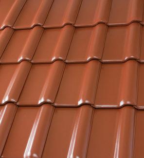 фото Черепица Roben PIEMONT, медный красно-коричневый